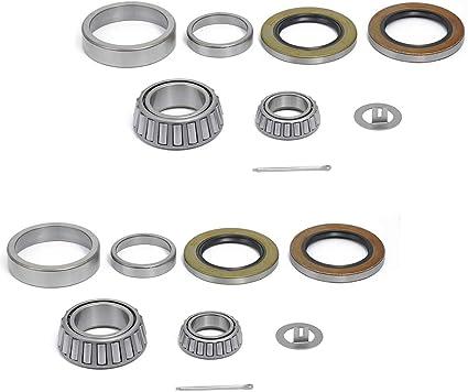 "Trailer Spindle Kit 1,000 lb Washer /& Cotter Pin -R104BT8 1.25/"" Round Kit Nut"