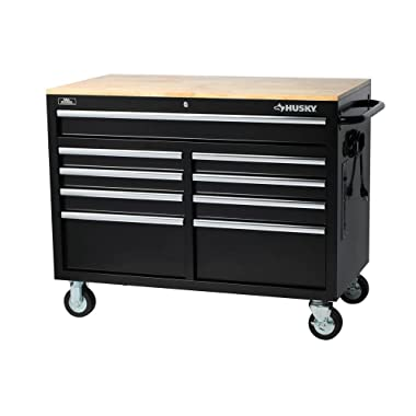 Husky Extra Deep 46 in. 9-Drawer Mobile Workbench