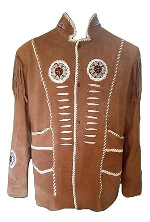Bestzo Quality Coat Top Bones amp; Fringed Beads Western Cowboy Men's qxrCwqUf