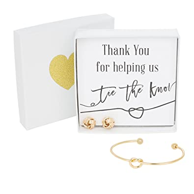 Amazon Com Bridesmaids Gifts Tie The Knot Thank You Gift Bracelet