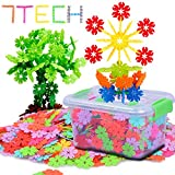 7TECH 600 Pcs Snowflake Building Blocks Stem Educational Toys for Kids