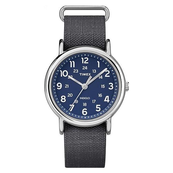 Reloj Timex Unisex Special Weekender Slip Through, Negro (Negro/Azul)
