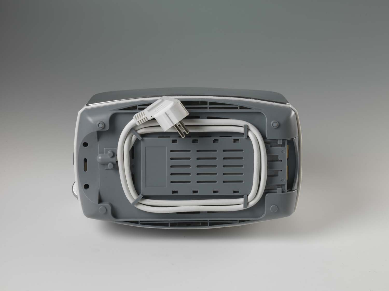 Acciaio Inossidabile Argento Ariete 600 Tostapane T-Brunch Metal 2 Scomparti 600 W