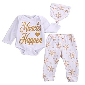 1731991b5 Amazon.com  BAOBAOLAI Baby Girls Christmas Snowflake Bodysuits with ...