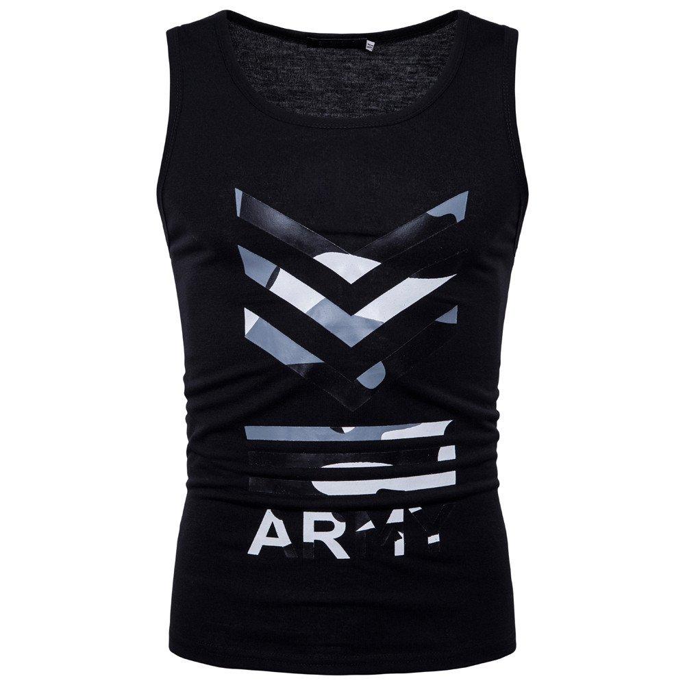 Respctful♥Men Fitness Tanks Tops Shirt Sleeveless Workout and Training Activewear Shirt Gym Workout Tank Tops Black