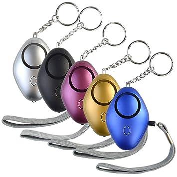 5 llaveros de Alarma Personal de Emergencia de 130 dB con ...