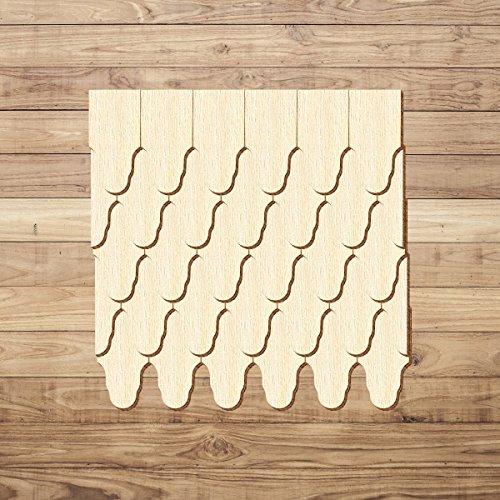 Contreplaqué bardeaux–Feuille de chêne–Tailles et de la quantité Sélection, Lot de 500, 60mm x 30mm