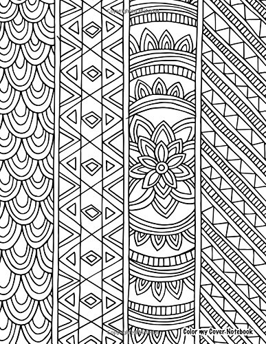 Color My Cover Notebook (lotus): Therapeutic notebook for writing, journaling, and note-taking with coloring design on cover for inner peace, calm, ... Cover Notebooks and Journals) (Volume 23) ebook