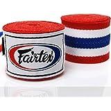 Fairtex Bandagen, halb-elastisch, 4.5 m, Thai Flag, Wickelbandagen, Hand Wrap