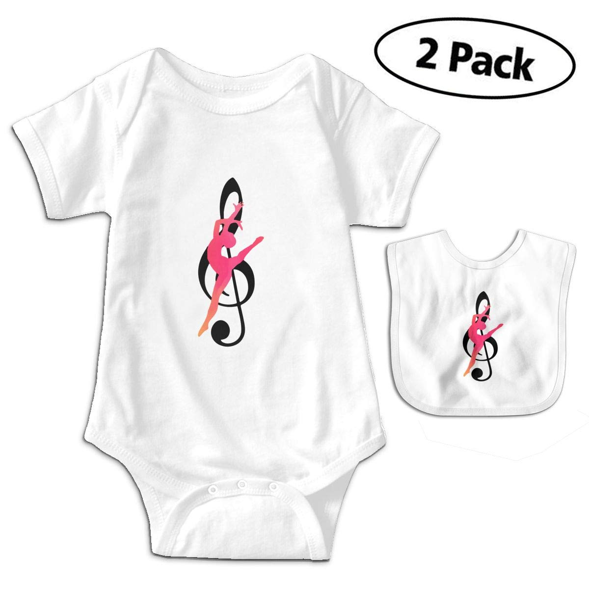 Harataki Guard Music Note Infant Baby Boys Girls Short Sleeve Romper Bodysuit Outfit Clothes