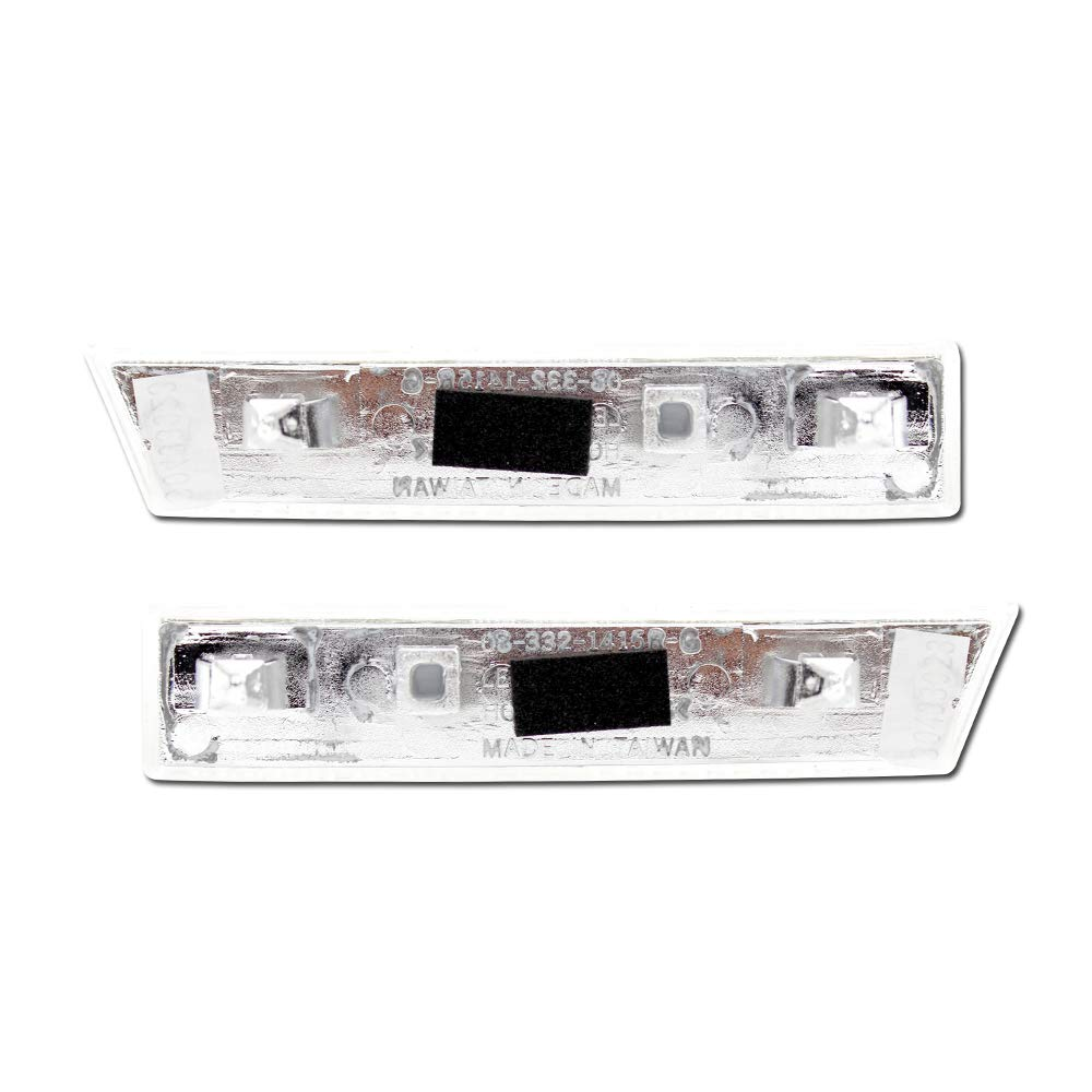 Pro Car Parts Clear Front//Side Bumper Reflector Lights for Chevrolet Astro 95-03// GMC Safari 95-03