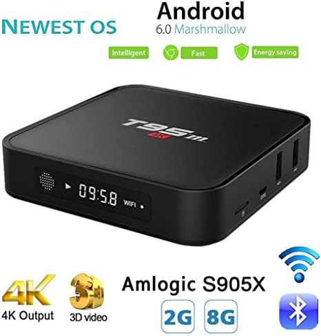 Android TV Box, pendoo t95 m Smart caja 2 G/8G Android 6.0 Amlogic ...