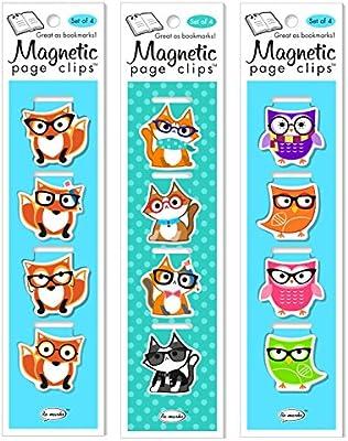 re-marks animales W/Gafas página magnética Clips (3 unidades ...