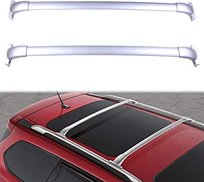 For 2013-2017 Nissan Pathfinder Roof Top Rack Cross Bars Luggage Carrier Silver