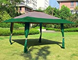 Cloud Mountain 13' x 13' Outdoor Patio Easy Pop-Up Double Roof Gazebo Canopy Tent, Water Resistance Resist Light Rain UV Protected Vented Gazobo for Party Event, Hunter Green