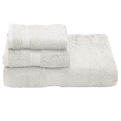 3e1d397435bd Amazon.com: Ivy Union 100% Egyptian Cotton Premium Bath Towel Set (1 Bath - 1  Hand - 1 Wash, White): Home & Kitchen