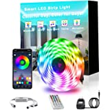 Smart Led Strip Lights APP Controlled, KSQ 32.8ft RGB LED Strip Lights Bluetooth for Bedroom Décor, Premium SMD5050…