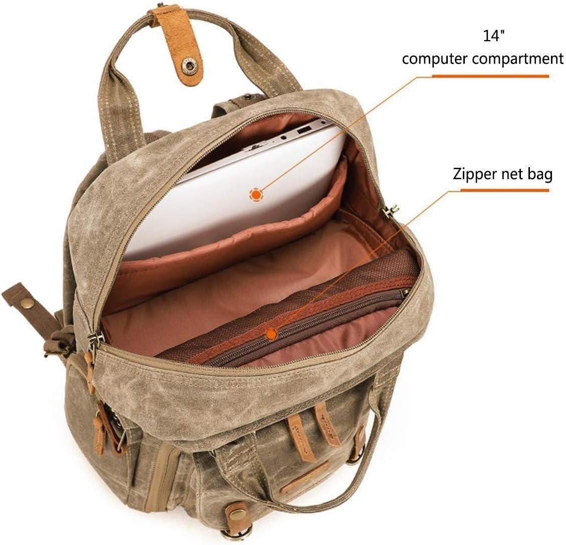 Photo Casual Travel Bag Camera Backpack Laptop Tripod and Accessories Multi-Function Backpack 30 X 16 X 42cm Versatile Zhengtufuzhuang Khaki Digital SLR Camera Backpack