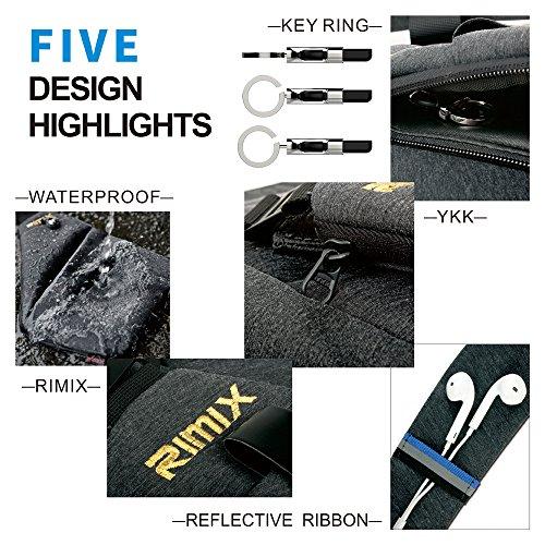 RIMIX Multi-purpose Anti-thief Hidden Security Bag Underarm Shoulder Armpit Messenger bag Sports Leisure Chest Bag Portable Backpack for Phone Money Passport Tactical Bag (Blue / For Right Handed)
