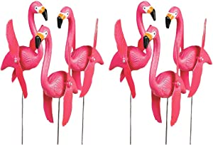 Fun Express Mini Pink Flamingos Whirly-gig Twirling Wings Lawn Ornaments (1-Pack of 6)