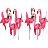 OTC - Mini Pink Flamingoes Whirly-gig twirling Wings Lawn Ornaments (1-Pack of 6)