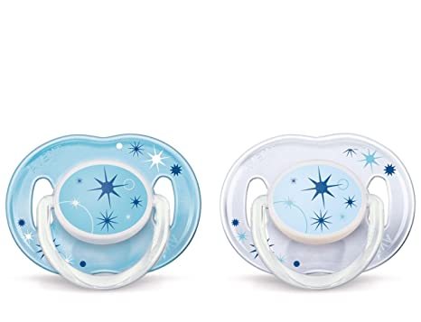 Philips AVENT Freeflow Pacifier x2 Orthodontic Nipple BPA Free All Size Color