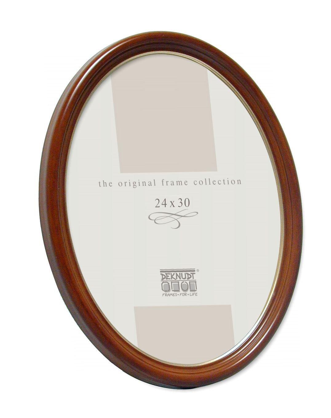 Amazon.de: Deknudt Rahmen S100H1-10.0X15.0 Oval, Nubaum