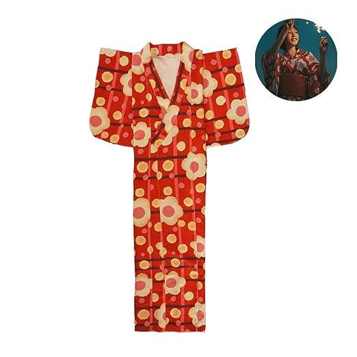 LiXiZhong Kimono para Mujer, Traje Tradicional De Albornoz ...