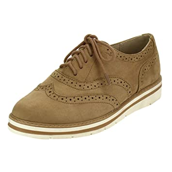 shades of discount lace up in Amazon.com: DETAIWIN Women's Oxford Sneaker Vintage Brogue ...