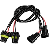HUIQIAODS 9006 9005 HB3 HB4 Sockets Male Female Adapter Extension Wiring Harness Connector for LED Headlight Fog Light