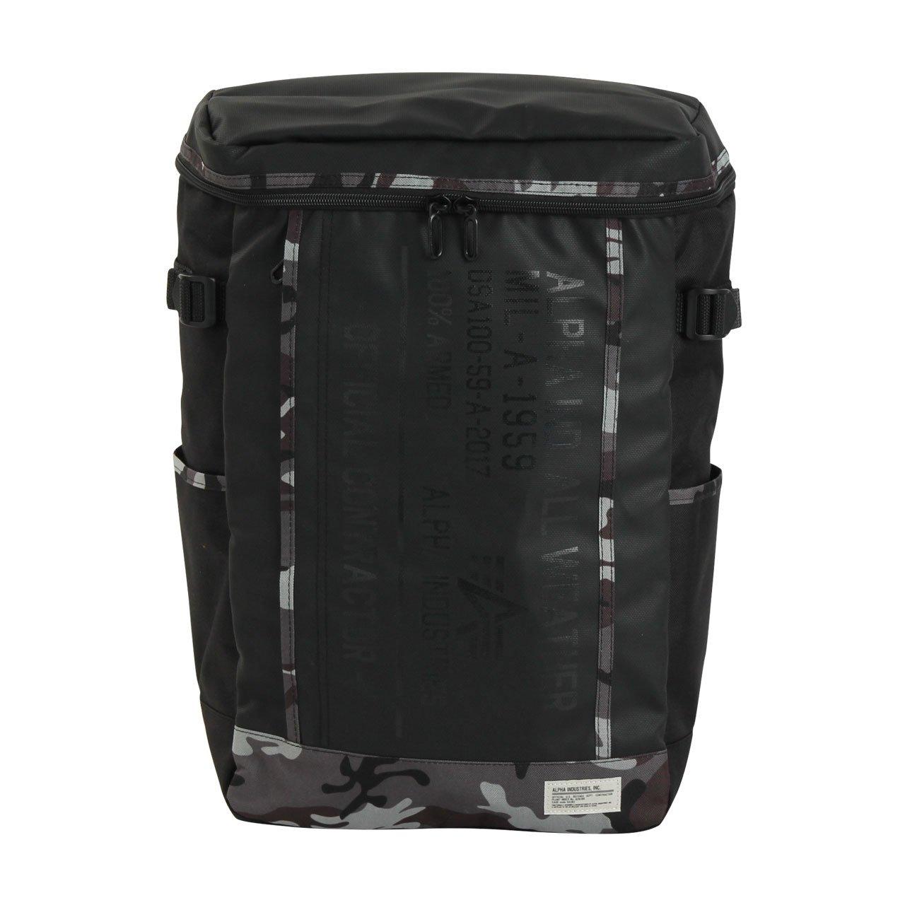 (アルファインダストリーズ) ALPHA INDUSTRIES 40057 カーボンコート ボックス型 リュックサック バッグ メンズ レディース バックパック B074NZHYG7 グレーカモフラージュ グレーカモフラージュ