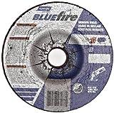 Norton Blue Fire Plus Depressed Center Abrasive Wheel, Type 27, Zirconia Alumina and Aluminum Oxide, 5/8'' Arbor, 4'' Diameter x 1/4'' Thickness   (Pack of 25)