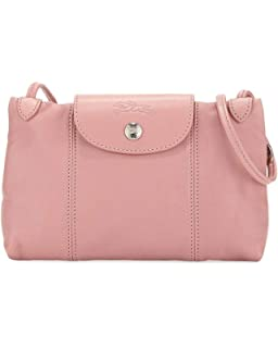 Longchamp Women s Leather Le Pliage Cuir Crossbody Bag Khaki ... 3b6adbaa31
