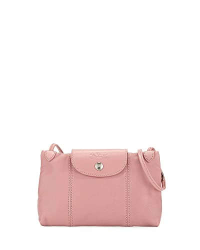 728aa74d2dc0 Longchamp Women s Leather Le Pliage Cuir Crossbody Bag Blush  Handbags   Amazon.com