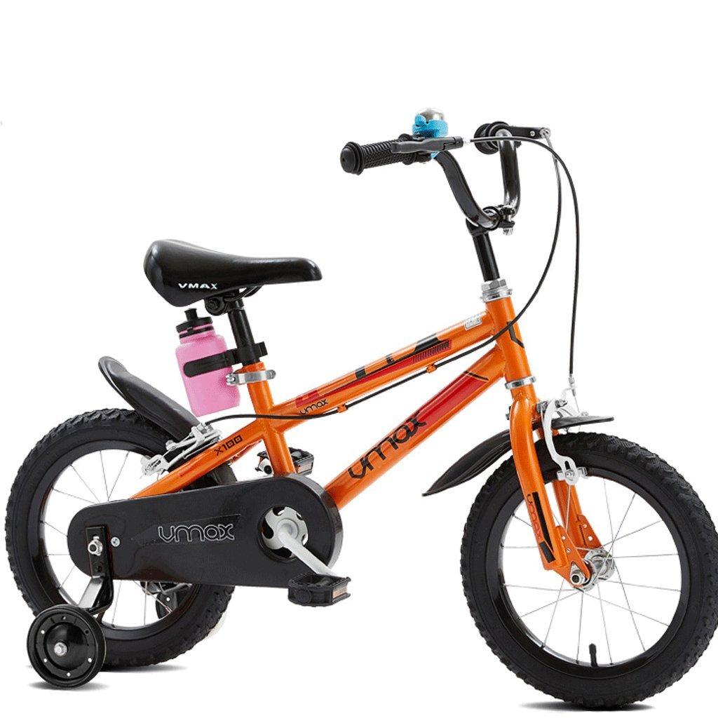 子供の自転車の男の子3歳から12歳の児童ベビーベビーカーの自転車 (色 : オレンジ, サイズ さいず : 12インチ) B07D52Q1KK 12インチ|オレンジ オレンジ 12インチ