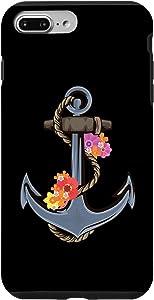 iPhone 7 Plus/8 Plus Anker Ship Flowers Seamen Or Sailor Case