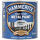 Hammerite Metal Paint Smooth 2.5L Silver by Hammerite