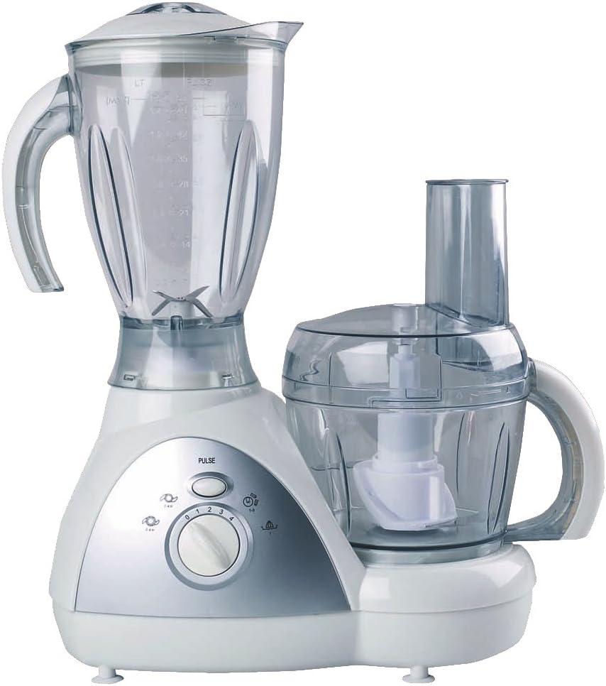 Zephir ZHC1400 500W 1.5L Plata, Transparente, Color Blanco - Robot de Cocina (1, 5 L, Plata, Transparente, Blanco, Giratorio, 500 W, 430 mm, 180 mm): Amazon.es