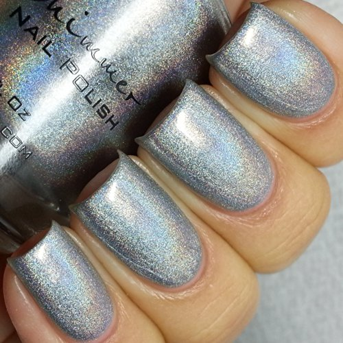 Pt Young Thing Silver Holographic Nail Polish- 0.5 oz Full Sized Bottle (Platinum Silver Nail Polish compare prices)