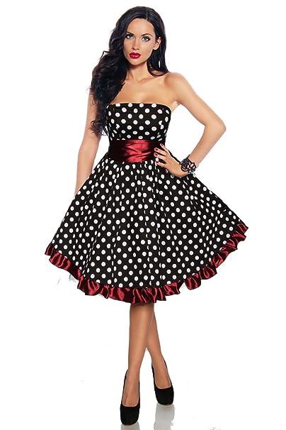 big sale 89b63 e69bf Rockabilly Kleid, Vintage, Pin Up, Burlesque, schwarz weiss ...