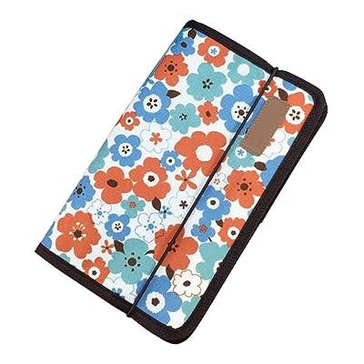 A5 Multilayer File Pocket Student Files Organizer Portable Briefcase-Flower