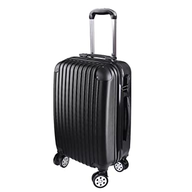 AW 20quot Rolling Luggage ABS Hard Shell Lightweight Travel Suitcase 360 Degree 4 Wheels Lockable