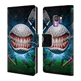 Official Tom Wood Golf Ball Monsters Leather Book Wallet Case Cover For Samsung Galaxy S9