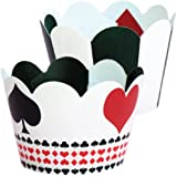 Poker Theme Cupcake Wrappers, Casino Party Supplies, 36 Cup Cake Holders