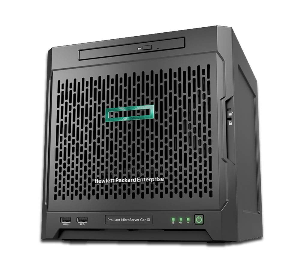 HP MicroServer Gen10 Tower Server for Business, AMD Opteron X3421 up to 3.4GHz, 16GB RAM, 4TB SATA, RAID, 3 Years Warranty by HP