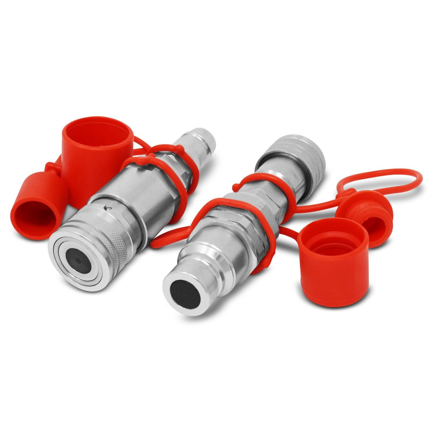 Flat Face ISO 16028 to Ag ISO Pioneer Style Hydraulic Quick Coupler Adapter Set Summit Hydraulics FF12