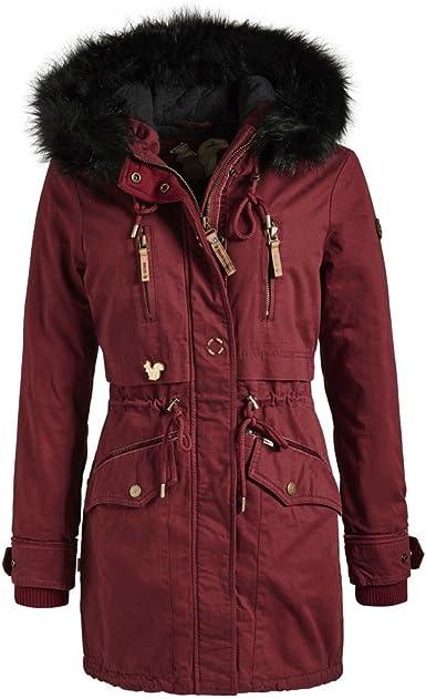 khujo Damen Winter Mantel Winterparka YM JA 3 Farben + Camouflage XS XXL
