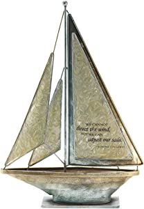 Dicksons We Can Adjust Our Sails Bertha Calloway 12 x 9.5 Metal Table Top Sailboat Figurine Decoration