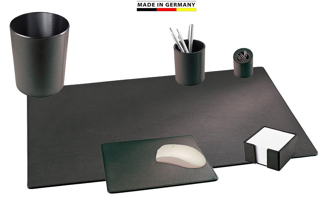 Handmade in Germany excl. Schreibtischset Leder 6tlg. in schwarz, aus genarbtem Rindnappaleder erhältlich in 5 Farben excl. Marke EuroStyle