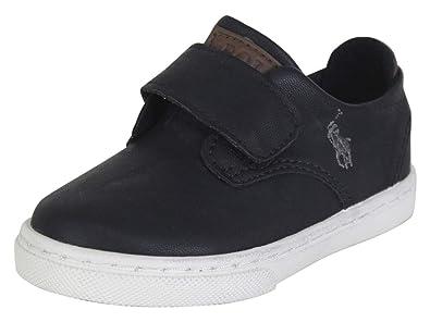 Polo Ralph Lauren Thurston-EZ Zapatillas para niño pequeño, Negro ...